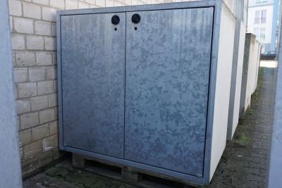 Paul Wolff Mülltonnen Box 2 x 240 Liter / Klassik Line  / aussen Sichtbeton / Türen verzinkt