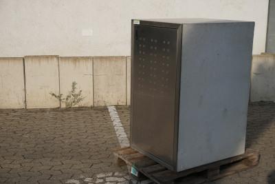 Paul Wolff Mülltonnen Box 1 x 240 Liter / Silent / aussen Sichtbeton / Tür Edelstahl verzinkt