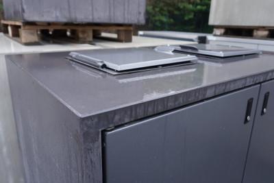 Paul Wolff Mülltonnen Box 2 x 240 Liter / Silent Line mit Einwurf / aussen dunkler Sichtbeton / Türen anthrazit