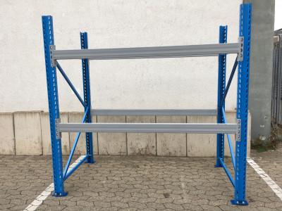 Stow Schwerlastregal Höhe 2.500mm / Tiefe 1.100mm / Traversenlänge 2900mm / 3.000 kg / 45 Plätze