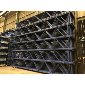 SSI Schäfer PR300 Rahmenständer Höhe 8.000mm / Max. 9.000kg Feldlast / Tiefe 1.030mm  blau lackiert