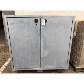 Paul Wolff Mülltonnen Box 2x240 Liter / Klassik / aussen Sichtbeton / Türen verzinkt