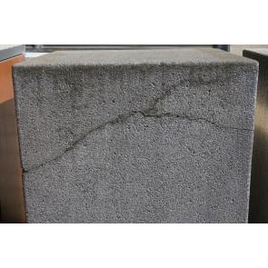 Paul Wolff Mülltonnen Box 1 x 240 Liter / Avantgarde / aussen feiner grauer Waschbeton / Türen Anthrazit lackiert / gerissen